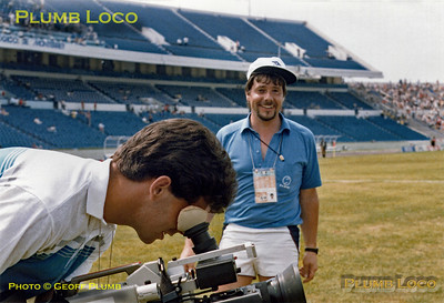 Geoff Plumb, Mexico '86, with Gary Stevens