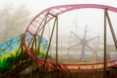 Keansburg Amusements in Fog