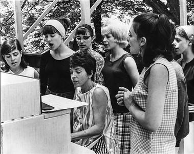 Chan's singing class at Ramblerny - 1965