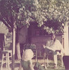 Lil and Nancy under the grab apple tree at the Scott's