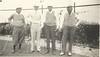 Harry Cahill James Eckles L L McDonald and Mr Benson Long Beach CA April 1936