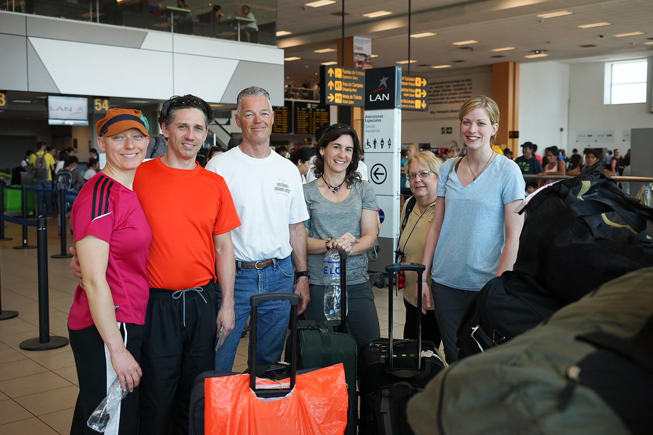 Part of the team in Lima airport as we head to Cusco