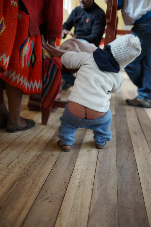 The babies don't wear diapers. I don't get it....and don't have any answers to the obvious questions.