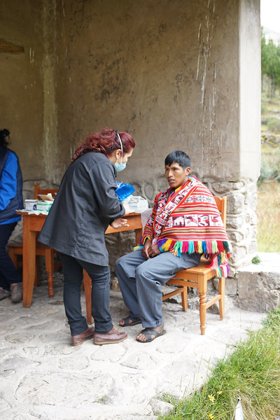 The dental clinic. This is Rosio, one of the Bolivian dentists.