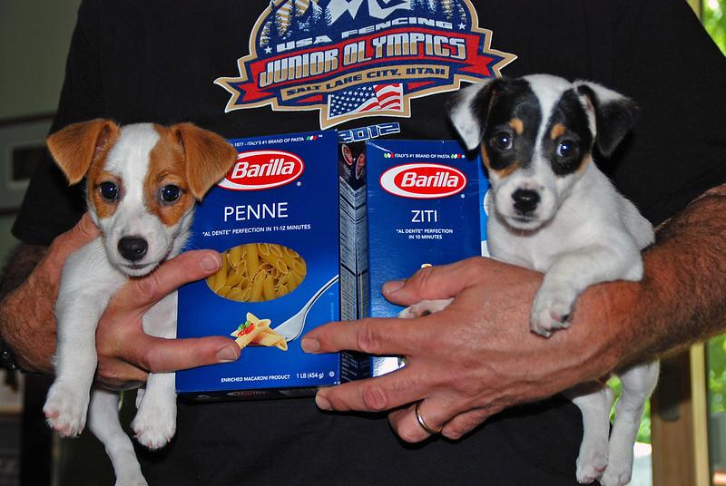 Ray holding Penne & Ziti.