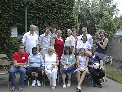 Pfister/Eireman Descendants in Terre Haute, July 4, 2002