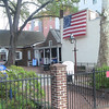 The side garden of the Betsy Ross house.