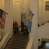 Some of the kids practicing for upcoming St. Lucia Day at the American Swedish Historical Museum.