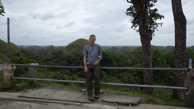 Bohol Chocolate Hills view from restaurant