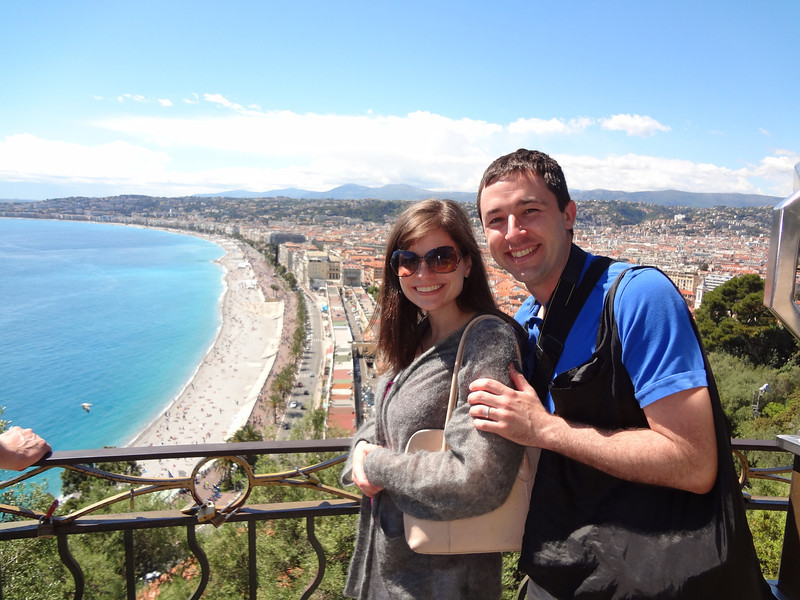 Beautiful day atop the hill in Nice, France