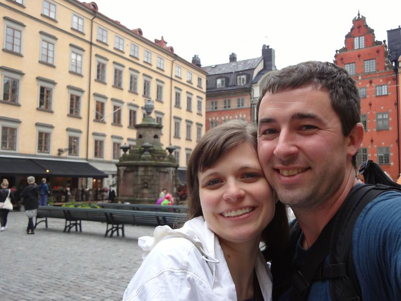 Enjoying Gamla Stan in Stockholm