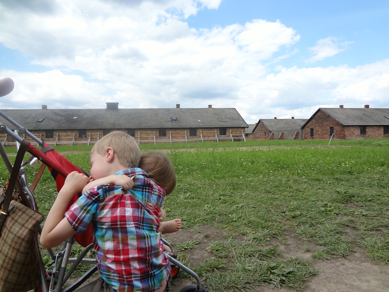 A little hug on our day at Birkenau, Poland
