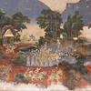 Fresco scene on exterior hallway wall, painted early 20th century, Royal Palace