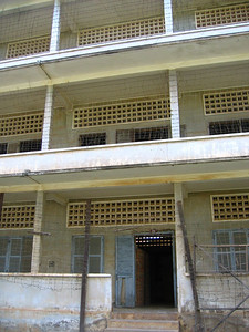 "s-21 prison. everybody who was brought here was tortured for ""information"" and then brought to the killing fields to be executed"