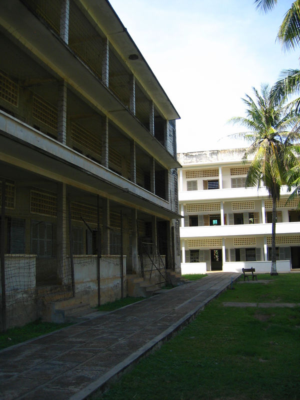 the infamous s-21 prison.  it used to be a highschool.