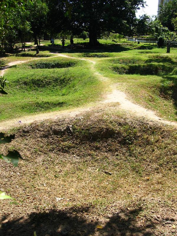 excavated mass grave site