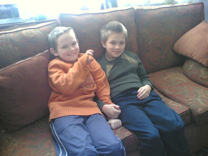 My best friends two boys .. cheeky monkeys.