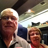 Ted & Marie returning from NYC on the Amtrak train.