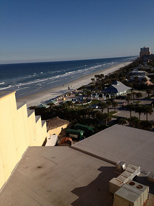 View out our room window at Daytona Beach for FRE