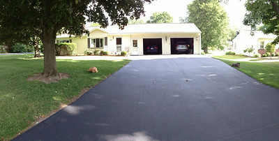 The Girls on each side of the driveway