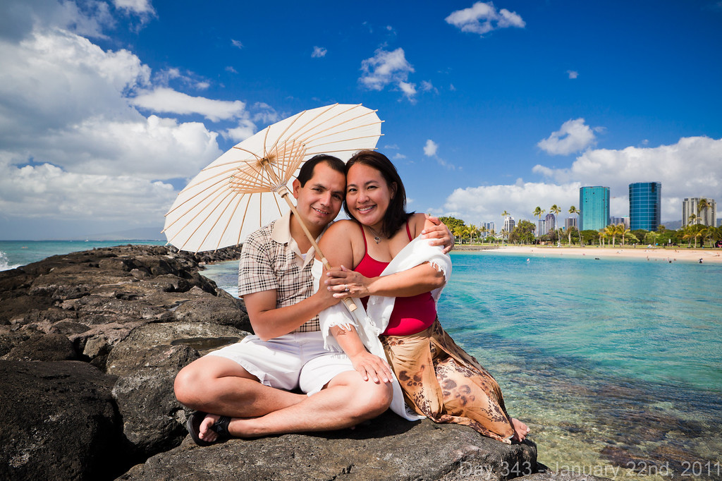 Today, I headed out to Magic Island for an engagement session shoot that also worked as an informal workshop for other photographers. Congratulations again to Renee and Reyes! Later, I went to the bridal expo with Helene before coming back to AMR for Aimee's housewarming party.