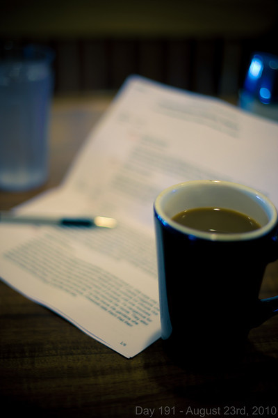 Today, I went to get brunch by myself at Anna Miller's, with only my novel notes for company.  I'm getting serious about finishing it before November.  Later, I decided to just get posting my daily photo over with, because I doubt I'll do anything else interesting today.