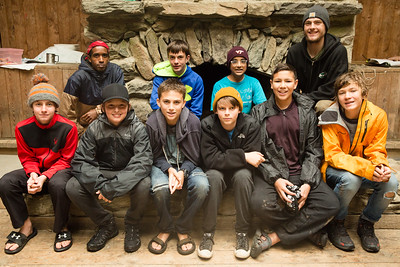 Campers at Timberlake pose for cabin photos during the first full day of the second session of camp, July 24, 2017. Timberlake, a summer camp for boys, is one of seven Farm & Wilderness camps in Plymouth, VT, based on the Quaker values of simplicity, honesty, self-reliance, and respect for all life. © Michael Forster Rothbart Photography www.mfrphoto.org • 607-267-4893 34 Spruce St, Oneonta, NY 13820 86 Three Mile Pond Rd, Vassalboro, ME 04989 info@mfrphoto.org Photo by: Michael Forster Rothbart Date:  7/24/2017 File#:  Canon — Canon EOS 5D Mark III digital camera frame C29101