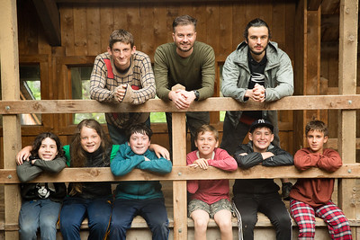 Campers at Timberlake pose for cabin photos during the first full day of the second session of camp, July 24, 2017. Timberlake, a summer camp for boys, is one of seven Farm & Wilderness camps in Plymouth, VT, based on the Quaker values of simplicity, honesty, self-reliance, and respect for all life. © Michael Forster Rothbart Photography www.mfrphoto.org • 607-267-4893 34 Spruce St, Oneonta, NY 13820 86 Three Mile Pond Rd, Vassalboro, ME 04989 info@mfrphoto.org Photo by: Michael Forster Rothbart Date:  7/24/2017 File#:  Canon — Canon EOS 5D Mark III digital camera frame C29117