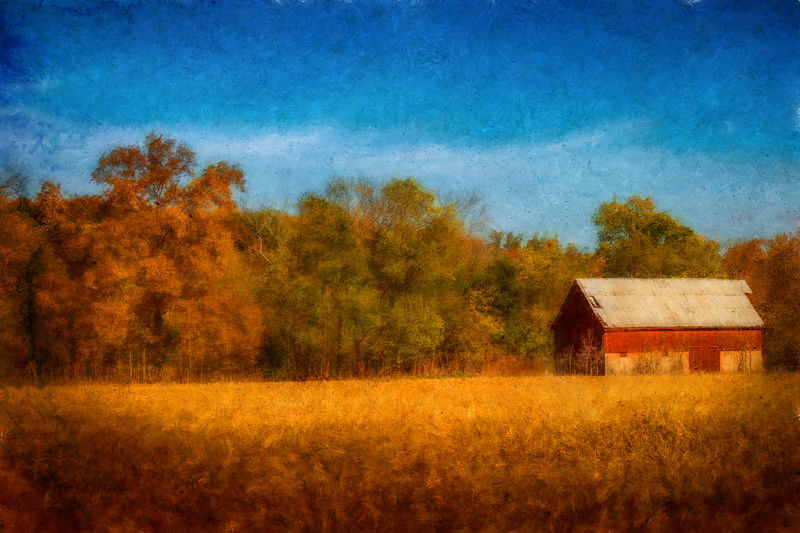 Knox County, Ohio on October 19, 2016. Photoart with Corel Painter and Affinity Photo.