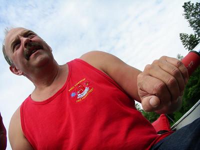 Gary rowing at Tahquamenon