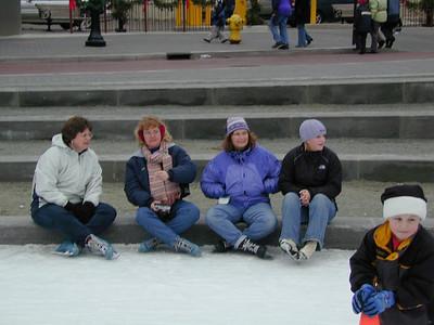 skating at Rosa Parks Circle on New Years Day 2003