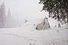 """Our home in Colorado during the winter storm.  We got around 30"""" of snow, high winds up to 50 mph and temperatures in the single digits."""