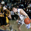 St. Pius vs St. Michael's at the  Perez-Shelley Gymnasium on Friday, January 15, 2010.  St. Michael's was up 43-38 in the fourth quarter.<br /> Photos by Jane Phillips/The New Mexican