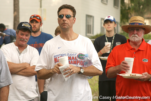 photo by Tim Casey<br /> <br /> during the third stop of the Gator Country Caravan, prior to Friday Night Lights, on Friday, July 18, 2008 in Gainesville, Fla.