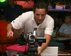 photo by Tim Casey<br /> <br /> Gator Country Video Director Brenden Martin gets ready to broadcast during the seventh Gator Country Caravan stop on Tuesday, July 29, 2008 at the Press Box Sports Bar in Tampa, Fla.