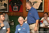 photo by Tim Casey<br /> <br /> Gator Country Managing Editor Franz Beard speaks with guests during the seventh Gator Country Caravan stop on Tuesday, July 29, 2008 at the Press Box Sports Bar in Tampa, Fla.