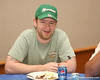 photo by Tim Casey<br /> <br /> WMOP/WGGG board operator Matt Benedict was on hand during the Marion County Gator Club's Gator Gathering (and ninth stop of the Gator Country Caravan) on Thursday, July 31, 2008 at Central Florida Community College in Ocala, Fla.