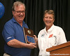 "photo by Tim Casey<br /> <br /> Gator Country Executive Editor Buddy Martin presents the ""Gator of the Year"" award during the Marion County Gator Club's Gator Gathering (and ninth stop of the Gator Country Caravan) on Thursday, July 31, 2008 at Central Florida Community College in Ocala, Fla."