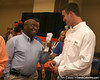 photo by Tim Casey<br /> <br /> Florida redshirt quarterback John Brantley speaks with a guest during the Marion County Gator Club's Gator Gathering (and ninth stop of the Gator Country Caravan) on Thursday, July 31, 2008 at Central Florida Community College in Ocala, Fla.