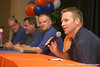 photo by Tim Casey<br /> <br /> Gator Country Radio Show host/columnist Brady Ackerman speaks as part of a panel discussion during the Marion County Gator Club's Gator Gathering (and ninth stop of the Gator Country Caravan) on Thursday, July 31, 2008 at Central Florida Community College in Ocala, Fla.