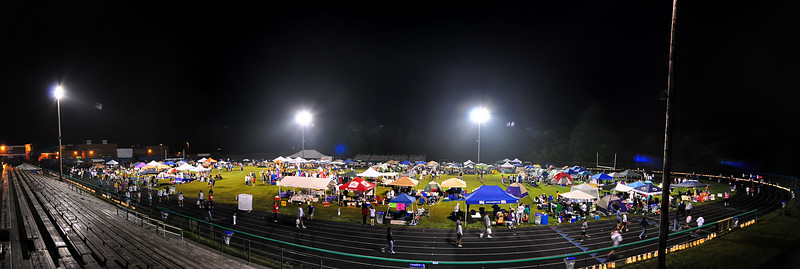 June 6th,  Stopped by Leonardtown High School for 12th Annual Relay for Life.  It was late in the evening, but there were plenty of people still walking and running.  Great event for a great cause!!  For a night time pano, thing worked out pretty good here!