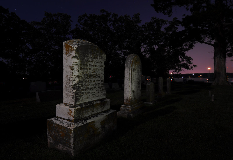 """July 3rd,   After shooting the firework from the cemetery of Trinity Church, in St Mary's City, Caleb and I decided to start shooting some of the cemetery.  You can see some more of these night shoots and others ....<a href=""""/gallery/8491032_obguv#581641507_3w2Qg"""">Click Here</a>"""