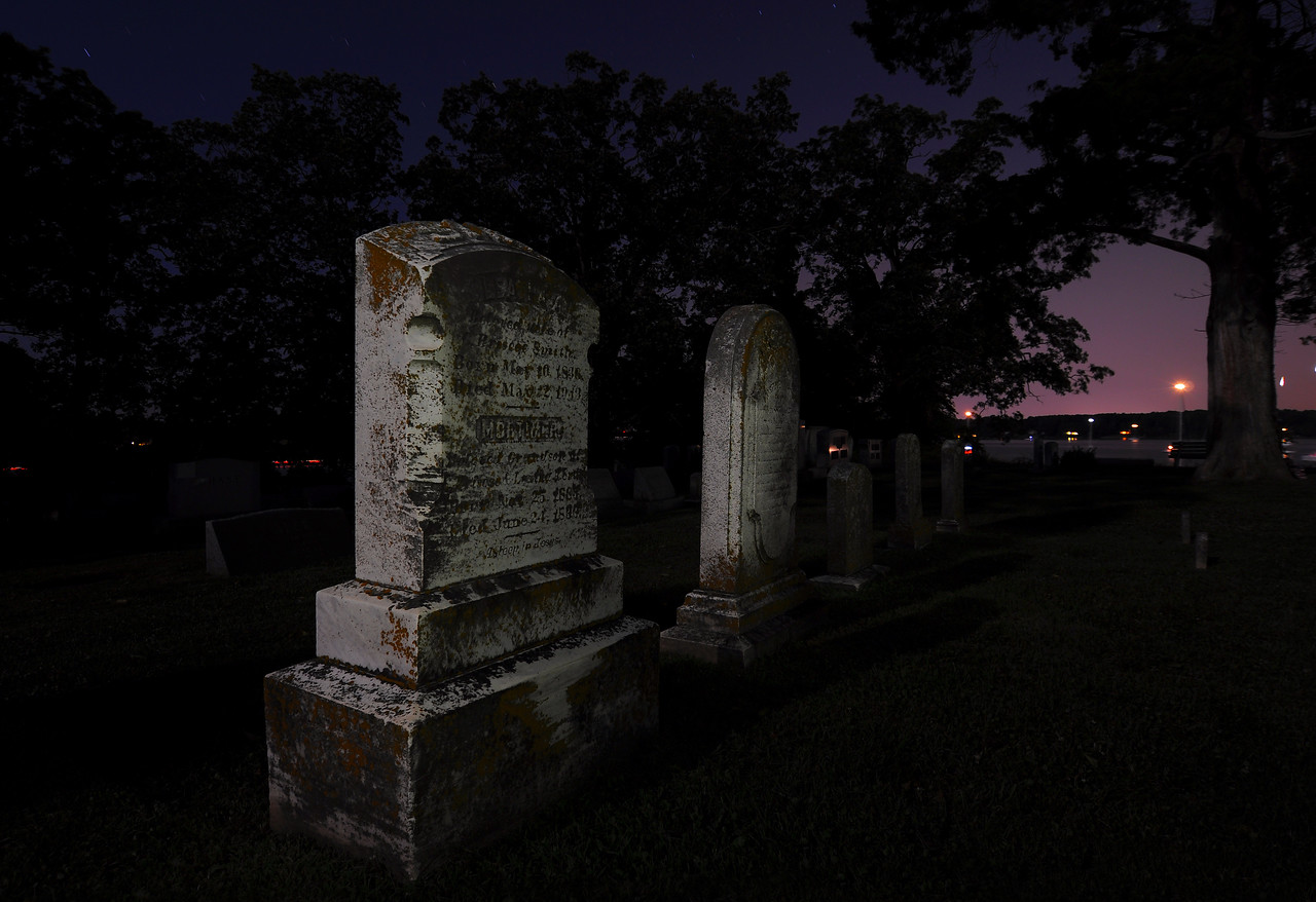 "July 3rd,   After shooting the firework from the cemetery of Trinity Church, in St Mary's City, Caleb and I decided to start shooting some of the cemetery.  You can see some more of these night shoots and others ....<a href=""/gallery/8491032_obguv#581641507_3w2Qg"">Click Here</a>"