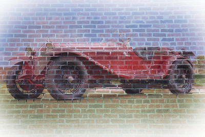 AlphaCar On Brick Wall LR