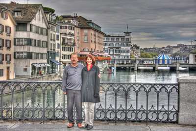 Zurich Couple - AFTER * * Note that in this rendition the couple appears processed with the rest of the photograph.