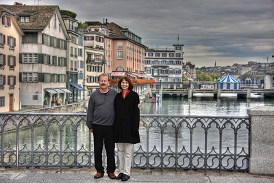 Zurich Couple - AFTER * * Note that in this rendition the couple appears as they are in the original photograph.