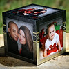 4x4 inch photo cube.  5 photos (bottom is hollow)  perfect for your desk, coffee table, or mantel!!!  Just $50.00.