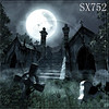Gothic A , halloween vinyl backdrop Approx 10 x 10 fee.