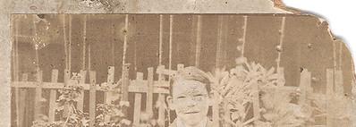 Detail of damage in original 1901 photo.