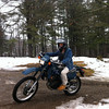 Josh spent some time trying out his klr roday